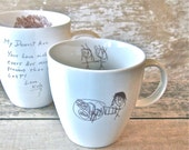 Your Child's Drawing Mug, MADE TO ORDER, Allow 4 Weeks, Personalized Coffee Cup, Keepsake Gift for Grandmother, Mother, Father, Christmas