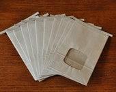 SALE - Ten Large 2 lb. Kraft Window Tin Tie Coffee Bags