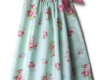 Toddler summer dresses - Floral pillowcase dress - rose pillowcase dress - baby dresses - spring dresses - cotton girls dress - easter dress