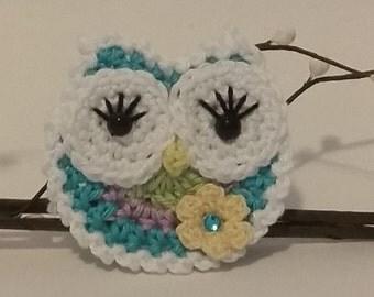Lacey Owl - Crochet Applique Pattern