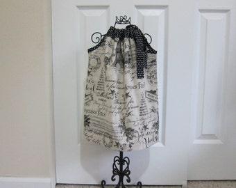 SALE  -  Pillowcase Dress - CHRISTMAS - Toddler Girls - 18 MONTHS - Ready to ship - Vintage Inspired - Holiday Black dress - EmmaJaneCompany