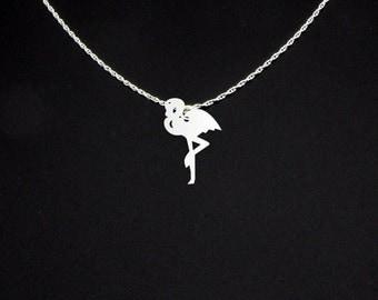 Flamingo Necklace - Flamingo Jewelry - Flamingo Gift