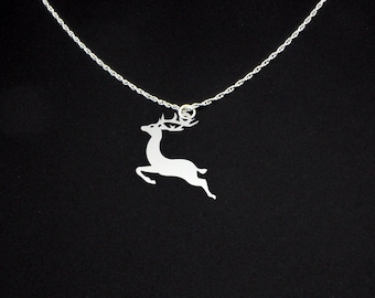 Reindeer Necklace - Reindeer Jewelry - Reindeer Gift