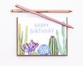 Cactus Garden Birthday Card