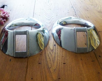 Two 1940 Ford Reproduction Headlight Rims