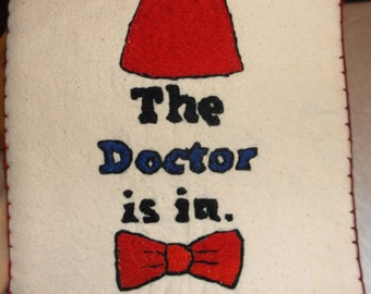 Dr. Who custom potholder, The Doctor is in