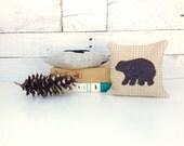 Brown Bear Balsam Pillow, Bear Decor Pillow, Cabin Pillow, Small Pillow, Woodland Bear, Rustic Home Decor, 6x6 Pillow, Natural Home Decor