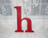 """Distressed Wooden Letter h Wall Decor 14"""" - 15"""" Tall Lowercase Wood Letters"""