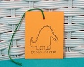 Handmade Set of 8 Dinosaur Tags