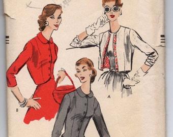 1950's Vogue Jacket Pattern in three styles - Bust 34' - No, 8880