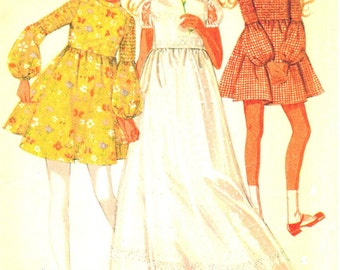 McCall's 2406 Vintage Fab Girls Dress in Three Lengths - Prom - Homecoming Vintage Sewing Pattern Size 10 breast 29
