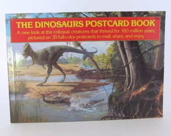 Dinosaur Postcard Book 30 Full Color Postcards Triceratops Stegosaurus Tyrannosaurus Rex and More
