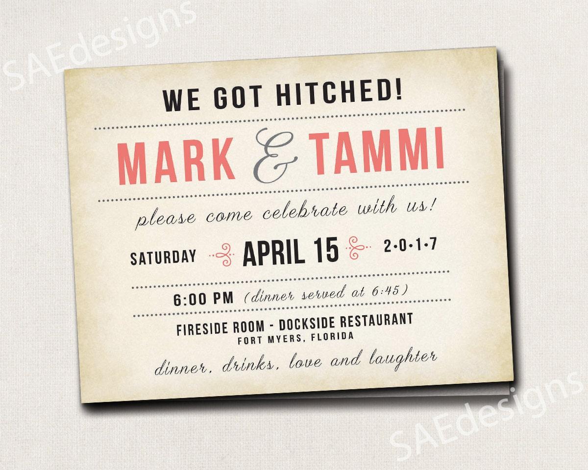 Elopement Wedding Invitations: Wedding Reception Elopement Invites Invitations Rustic
