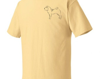 Chinese Shar-Pei Stacked Garment Dyed Cotton T-shirt