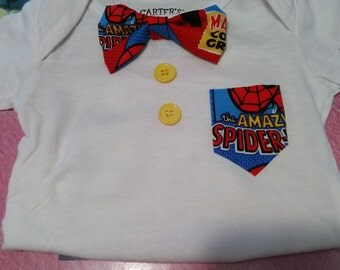 Spiderman Bowtie Onesie