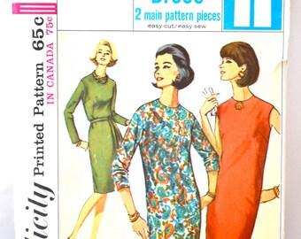 1960s Vintage Simplicity Pattern 5650 Misses One Piece Dress size 12 bust 32