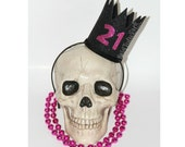 21st Birthday Crown // Dirty Thirty // Pink & Black 21st // Birthday GLAM crown // Ready to Ship // by Born TuTu Rock