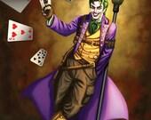 Signed 8.5 x 11 Steampunk Joker Glossy Print by Sandra Chang-Adair