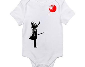 Dart Vader Baloon Baby Onesie / Star Wars Bodysuit / Star Wars Onesie / Star Wars Pop Art / Funny Baby Gift / Star Wars Baby Shower Gift