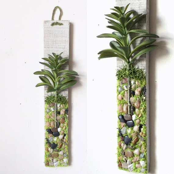 Plant Wall Hanging Artificial Succulent Moss By Papermemoirs