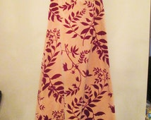 Tanner of North Carolina Long Skirt Size 12 Gold and Red Floral Flowing Full Skirt Back Zipper Festival Autumn Winter Holiday