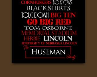 Nebraska Huskers Canvas or Print