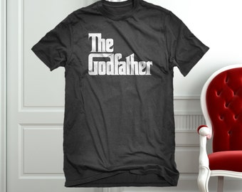 T-shirt The Godfather Unisex Adult Cotton Men's Grandparents God Parents Newborn Tshirt Gift for Him or Her #3065