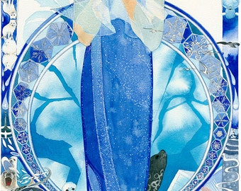 Arctica, Watercolour Giclée print