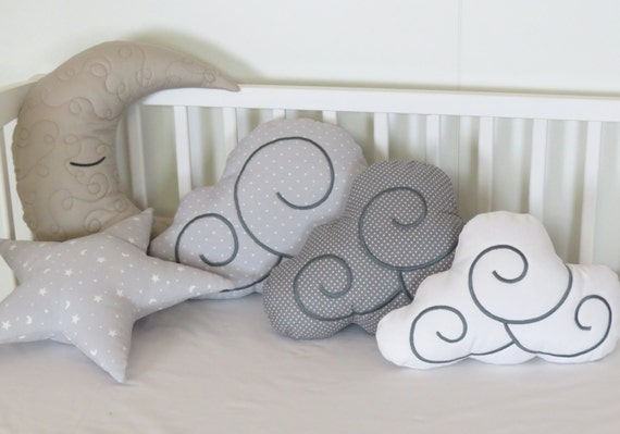 Moon Pillow, Cloud Pillows, Star Pillow Set (5) Kids Cushions
