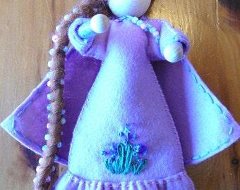 Spring Maiden Bendy Rope Doll, Waldorf Storytelling Doll, Art Doll