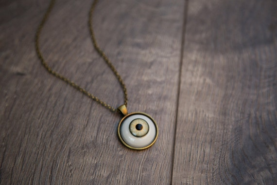 PREORDER Taxidermy Glass Eye Necklace / Realistic Human Eye Necklace