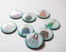 Set of 8 Gilmore Girls Inspired Magnets. Fridge Magnets.