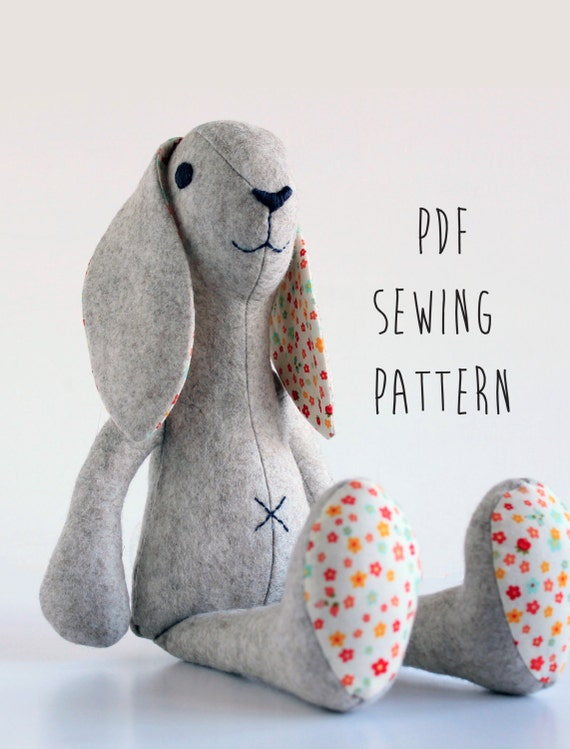 Free Pattern For Soft Toy Rabbit 43