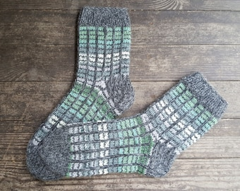 Hand Knitted Wool Socks - Colorful Wool Socks for Men -Mens Socks -House Wool Socks- Different Sizes