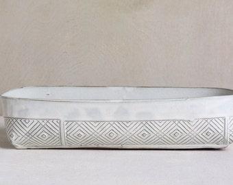 white baking dish, ceramic baking dish, modern baking dish, lasagna dish, white baking pan, ceramic casserole dish, wedding gift ideas