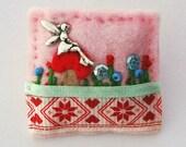 Fairy brooch - fairy jewellery - hand sewn felt brooch - fairy toadstool - fairy gifts - faery - hand sewn gifts
