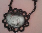 Mark Ryden Inspired Cameo Necklace Sleeping Beauty Pop Surrealism