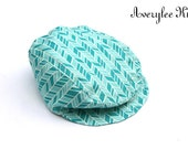 Newsboy Hat for Boys, Boys Newsboy Hat, Turquoise Blue Newsboy Hat, Driving Cap, Boys Golf Hat, Boys Flat Hat