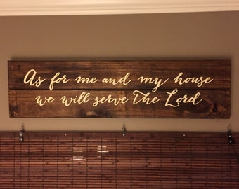 As for me & my house sign