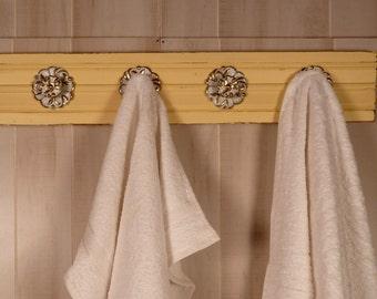 Wood towel holder Etsy