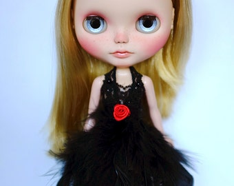 Black Swan Dress for Blythe doll (or similar dolls)