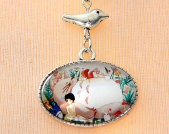 Necklace totoro oiseau
