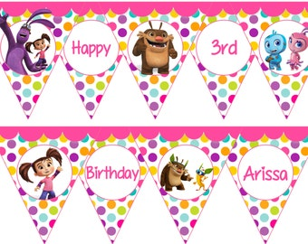 Kate & Mim Mim Birthday Party Banner- Printable File