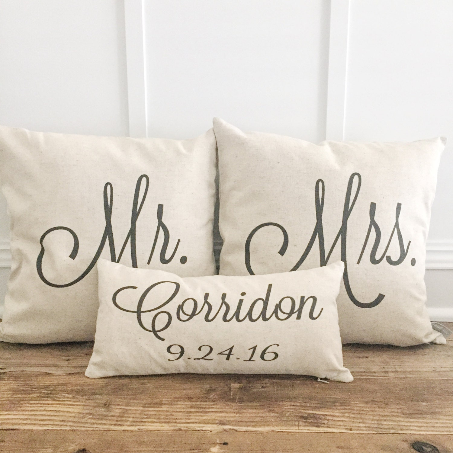 Mr Amp Mrs Custom Pillow Covers With Name And Wedding Date