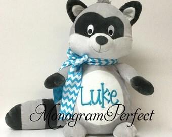 Jumbo Personalized Raccoon Stuffed Animal
