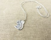 Silver Squirrel Necklace - Squirrel Jewelry - Woodland Animal Jewellery - Animal Lover Gift - Birthday Gift for Her - Woodland Creature