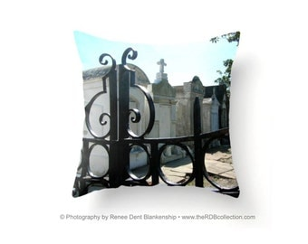 Lafayette Cemetery Pillow - New Orleans Textile - Home Decor - New Orleans Cemetery Tomb - Garden District - theRDBcollection