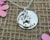 Personalised Gift for Women, Handmade Jewellery for Her, Valentine's Gift for Women, Love Star Heart Charms, Personalised Mother's Day Gift