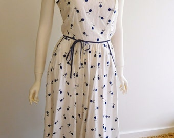 50s Cotton Sun dress Size 14 au