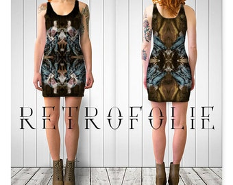 Pompadour Dress, Rococo, bodycon dress, tight fitted by retrofolie